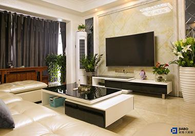 湘潭华雅花园83㎡两室两厅现代装修效果图