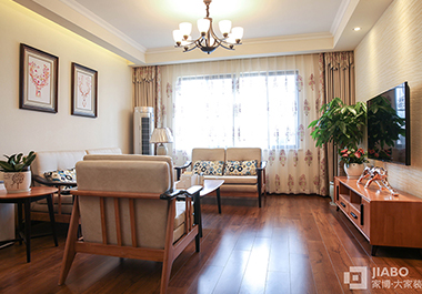 湘潭金侨城111平三房两厅混搭风格装修效果图