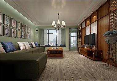 湘潭天元御城150平四房两厅美式风格装修效果图