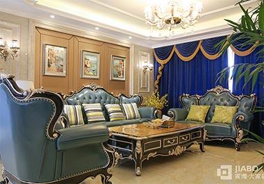 湘潭九华湖一号126平三房两厅欧式风格装修效果图