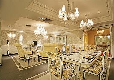 湘潭和园小区190平四室两厅欧式风格装修效果图