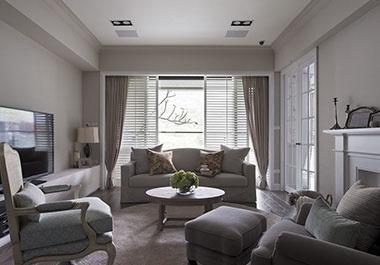湘潭中央一品121㎡三室两厅现代风格装修效果图