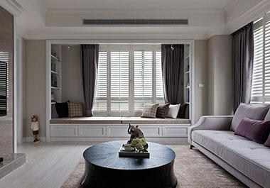 湘潭湘江学府108㎡两室两厅现代风格装修效果图