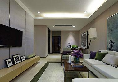 湘潭旺城天誉118㎡三房两厅现代风格装修效果图
