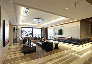 湘潭九华湖一号88.61㎡两房两厅现代装修效果图