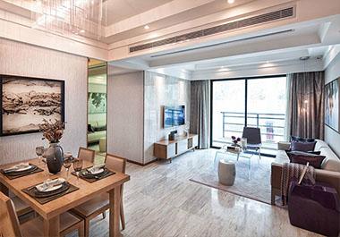 湘潭中央一品101.46㎡三室两厅现代装修效果图