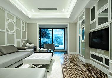 湘潭芙蓉世纪城88㎡两室两厅现代装修效果图
