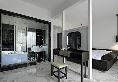 湘潭水岸龙庭128㎡三室两厅现代装修效果图