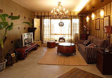 湘潭芙蓉世纪城95㎡三房两厅美式风格装修效果图