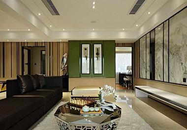 湘潭旺城天誉141㎡三室两厅中式装修效果图