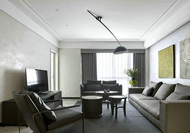 湘潭凤凰城127㎡三室两厅现代装修效果图