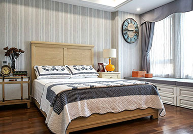 湘潭金侨城111平三房两厅美式风格装修效果图