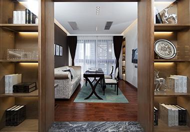 湘潭锦绣名都125.83㎡三房两厅现代风格装修效果图