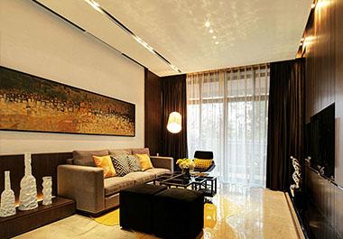 湘潭中央一品98.85㎡三室两厅现代装修效果图