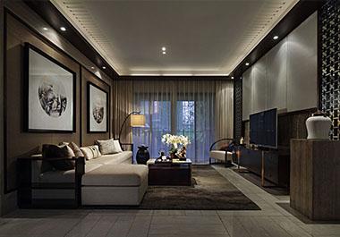 湘潭尚御尊城101㎡三室两厅新中式装修效果图