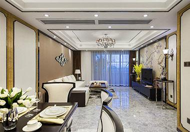 湘潭天元御城124㎡三房两厅新中式装修效果图