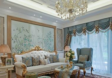 湘潭中央一品125㎡三室两厅欧式装修效果图