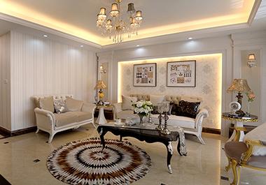 湘潭旺城天誉118㎡三室两厅简欧式装修效果图