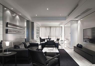 湘潭凤凰城107㎡三室两现代装修效果图