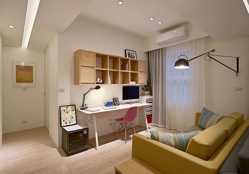 湘潭华雅花园99㎡三室两厅北欧风格装修效果图