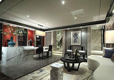 湘潭碧桂园145㎡三室两厅新中式装修效果图