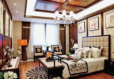 湘潭龙盛华府108㎡三室两厅新中式风格装修效果图