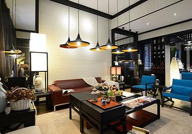 湘潭湘江学府142㎡四室两厅新中式装修效果图
