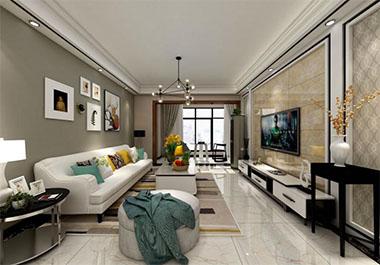 湘潭芙蓉世纪城94㎡两房两厅现代风格装修效果图