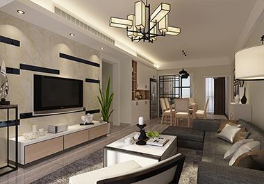 株洲奥园广场118㎡三室两厅现代风格装修效果图