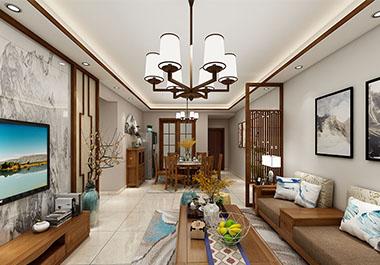 湘潭芙蓉世纪城四室两厅148㎡新中式装修效果图
