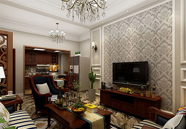 湘潭九华世纪城88㎡三室两厅小美装修效果图