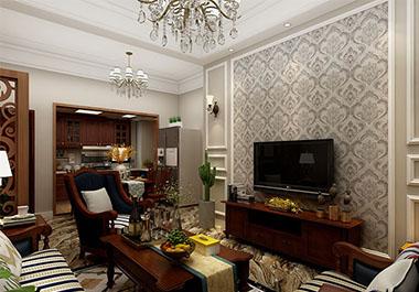 湘潭中央一品三室两厅97㎡现代简约装修效果图