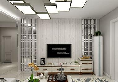 湘潭万镜水岸120㎡三室两厅现代简约装修效果图