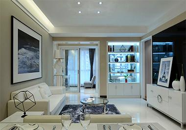 湘潭中央一品98㎡三室两厅现代风格装修效果图