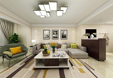 湘潭尚御尊城136m2三房两厅现代风格装修效果图