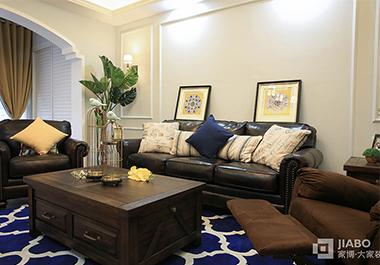 湘潭东方名苑118平三室两厅美式风格装修效果图