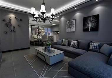 湘潭金水湾104㎡三室两厅现代风格装修效果图