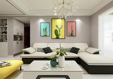 湘潭美居乐112㎡三室两厅现代风格装修效果图