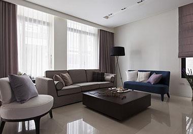 湘潭旺城天誉116㎡三室两厅现代风格装修效果图